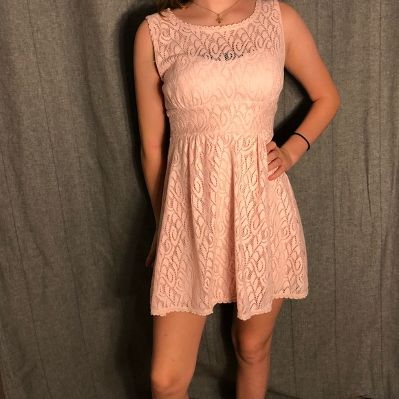 2584f84e2bac Macy's Dresses | Pink Lace Dress | Poshmark